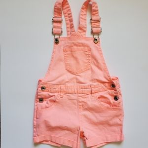 3/$20 GEORGE Girls Size 6 Coral short overalls